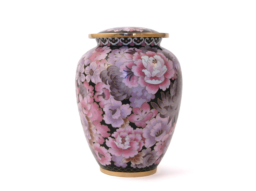 Floral Blush Cloisonne Elite Large Cremation Urn