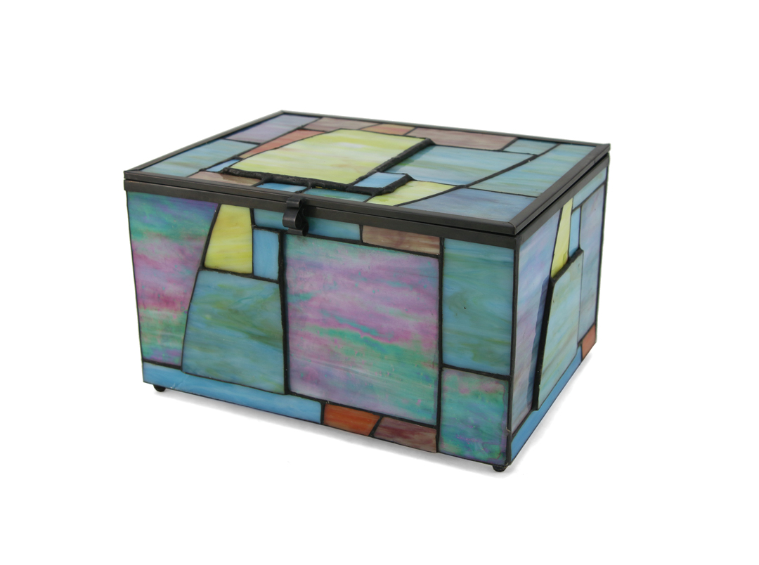 Paragon Stained Glass Geometric Memory Chest