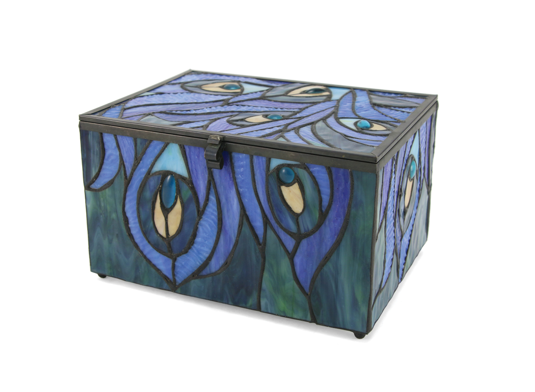 Paragon Stained Glass Peacock Memory Chest